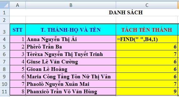 Hàm find and replace trong Excel
